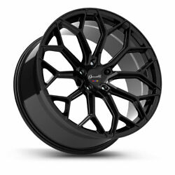 20 Gianelle Monte Carlo Black 20x8.5 20x10 Wheels Rims Fits Honda Accord 08-12