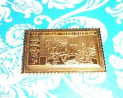 24kt Egp .999 Fine Silver Usps Stamp Birth Of Betsy Ross 3 Cents 200th Annivers