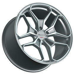 20 Giovanna Huraneo Silver 20x8.5 20x10 Wheels Rims Fits Ford Mustang Gt