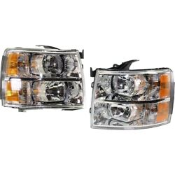 Headlight Lamp Left-and-right For Chevy Gm2503280c, Gm2502280c Lh And Rh Chevrolet