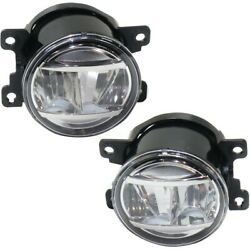 Set Of 2 Fog Lights Lamps Front Left-and-right Lh And Rh Ho2592144, Ho2593144 Pair