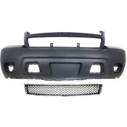Bumper Cover Kit For 2007-2013 Chevrolet Avalanche Front Lower Bumper Grille