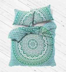 Indian Full Queen Size Mandala Duvet Doona Quilt Cover Hippie Bohemian Bed set