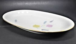 Eschenbach Spring Theme With Gold Trim W2057 58 14-inch Oval Serving Platter