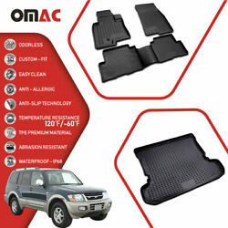 Floor Mats And Cargo Trunk Liner 3d Molded Fits Mitsubishi Montero 1999-2006