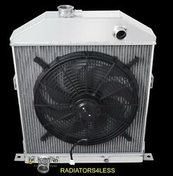 Champion 4 Row Aluminum Radiator And 16 Fan 42 43 44 45 46 47 48 Ford Coupe Cars