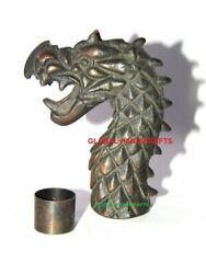 Nautical Collectible Dragon Head Handle designer Look walking stick Handle only