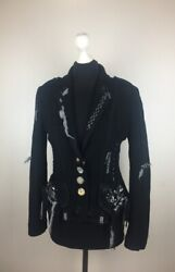 Tricot Ghic Womens Jacket 100 Wo-lana Size I42 F38 D36 Usa6 Made In Italy