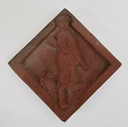 Enfield Pottery Farmer Series Tile Hunter And Rabbit
