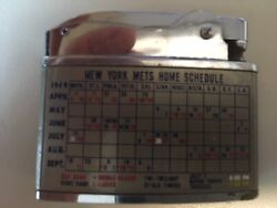 Ny Mets - 1969 Vulcan Lighter With 1969 Schedule - Rare