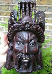 Vintage/antique Carving Chinese Asian Wooden Dragons Mask