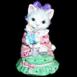 Lefton Porcelain Kitty Cat Figurine Musical My Favorite Things 1994 Music Box