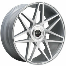24 Gianelle Parma Silver 24x10 Multispoke Concave Wheels Rims Fits Ford F-150