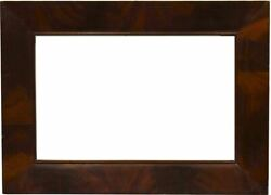 American 1840 Designed Canted Flat Panel Mahogany Veneer Picture Frame 11x17
