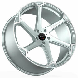 24 Giovanna Dalar-x Silver 24x10 Concave Wheels Rims Fits Ford Expedition