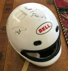 Bell Helmet   Hand Signed By 3x F1 Racing Champion Nelson Piquet + Other Drivers