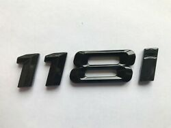 Gloss Black 118i Badge Rear Boot Trunk For Rear Of Car Fits Bmw 1 Series Models