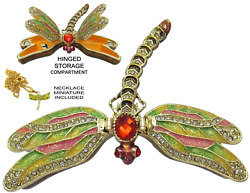 Dragonfly Jeweled Trinket Box With Austrian Crystals, 2