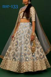 Festive Lengha Choli Wedding Look Indian Designer Lehenga Dress Party NSR -133