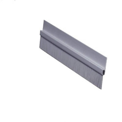 Pemko Brush Door Bottom Sweep, Clear Anodized Aluminum With 0.625 Gray Nylon H
