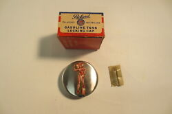Nos Packard Locking Gas Cap 1930and039s 1940and039s Packard Pa-412437 Fuel Cap Accessory