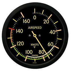 Trintec 10 Vintage Airspeed Thermometer Clock 9061vf-10 - A Great Aviation Gift