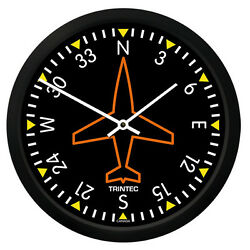 New Trintec 10 Classic Directional Gyro Clock 9062-10 - A Great Aviation Gift