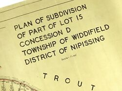 Plan Subdivision Township Widdifield District Nipissing Ontario Trout Lake M282