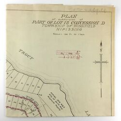 Plan Subdivision Township Widdifield District Nipissing Ontario Trout Lake M286