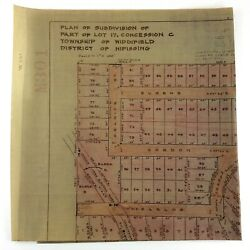Plan Subdivision Township Widdifield District Nipissing Ontario Trout Lake M287