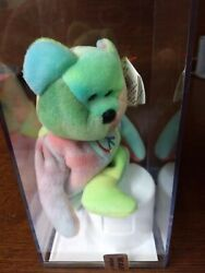 TY Peace Bear Beanie Baby-Rare Retired 2nd Ty Edition-Certified-Tag Errors