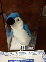 Ty Beanie Baby Rocket 1st Blue Jay Museum Quality Certified
