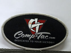 Vintage Nos Comp-tac.com Holsters Patch - 4 1/2 X 2 1/2 Oval Black And Gray