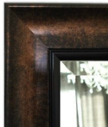 West Frames Tuscan Bathroom Wall Framed Mirror Black Bronze With Gold Finish
