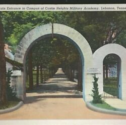 Lebanon Tennessee Castle Heights Military Academy Main Entrance Vintage Posted