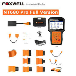 Foxwell NT680 Pro All System All Makes Scanner Diagnostic tool +OBD Adapters Kit
