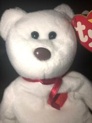 Rare Brown Nose Valentino Ty Beanie Baby, With Errors And Somewhat Crooked Nose.