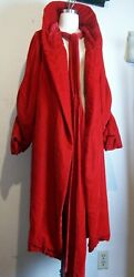 Vintage Rare 1930s Red Silk Velvet Cocoon Coat Collectible Jacket Museum Quality