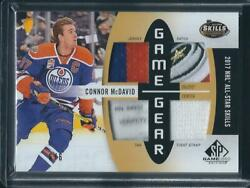 2017-18 Sp Game Used Connor Mcdavid Game Gear And03917 Nhl All-star Asgg-cm 6/6 Ssp