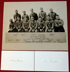 1925 Stanley Cup Champ Victoria Cougars Photo And Wally Elmer Clem Loughlin Signed