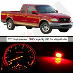 Red Cluster Panel Dash Bulbs+ Climate Control LED Package for 04-08 Ford F-150