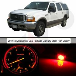 LED Package Kit Dash Gauge Cluster Light Red Bulbs for 2000-2001 Ford Excursion
