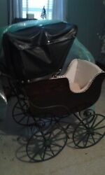 Vintage Antique Baby Carriage Buggy Buggie Stroller Bassinet Local Pickup