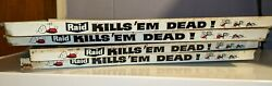 Vintage 4pc Store Display Shelf - Raid Kills Bugs Dead Sign Advertising Insect