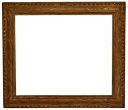 American 1920 Arts And Crafts Metal Leaf Picture Frame 25x30 Sku 1136