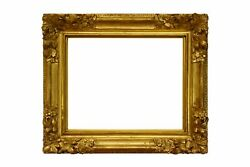 French 18th Century Louis Xiv Carved Gold Leaf Picture Frame 19x24 Sku 1924