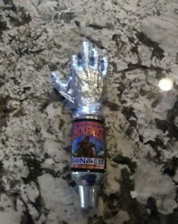 Jack Frost Three Fingers Winter Ale Silver Beer Tap Handle Saxer Super Rare