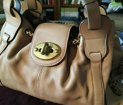 Mulberry Beige Drawstring Leather Tote - Classic Grain Leather - Never Used