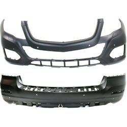 Bumper Covers Set Of 2 Front And Rear For Mercedes Mb1000403 Mb1100306 Pair