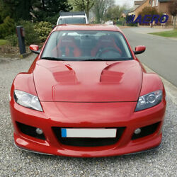Rea Heat Extractor Style Hood W/built In Rain Guards For 04-08 Mazda Rx8 - Aero